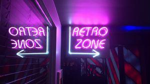 Preview wallpaper retro, zone, neon, arrow, sign