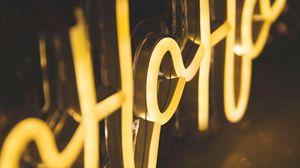 Preview wallpaper text, neon, glow, light