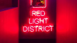 Preview wallpaper text, neon, red, light, glow