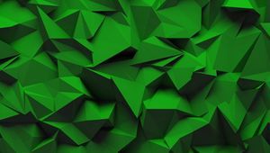 Preview wallpaper texture, relief, geometric, volume, green