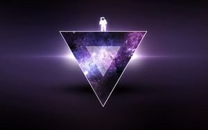 Preview wallpaper texture, triangle, astronaut, minimalism