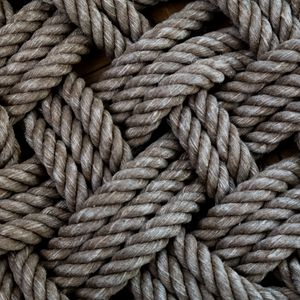 Preview wallpaper rope, threads, interlacing, macro, texture, brown