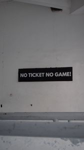 Preview wallpaper ticket, game, inscription, phrase, text