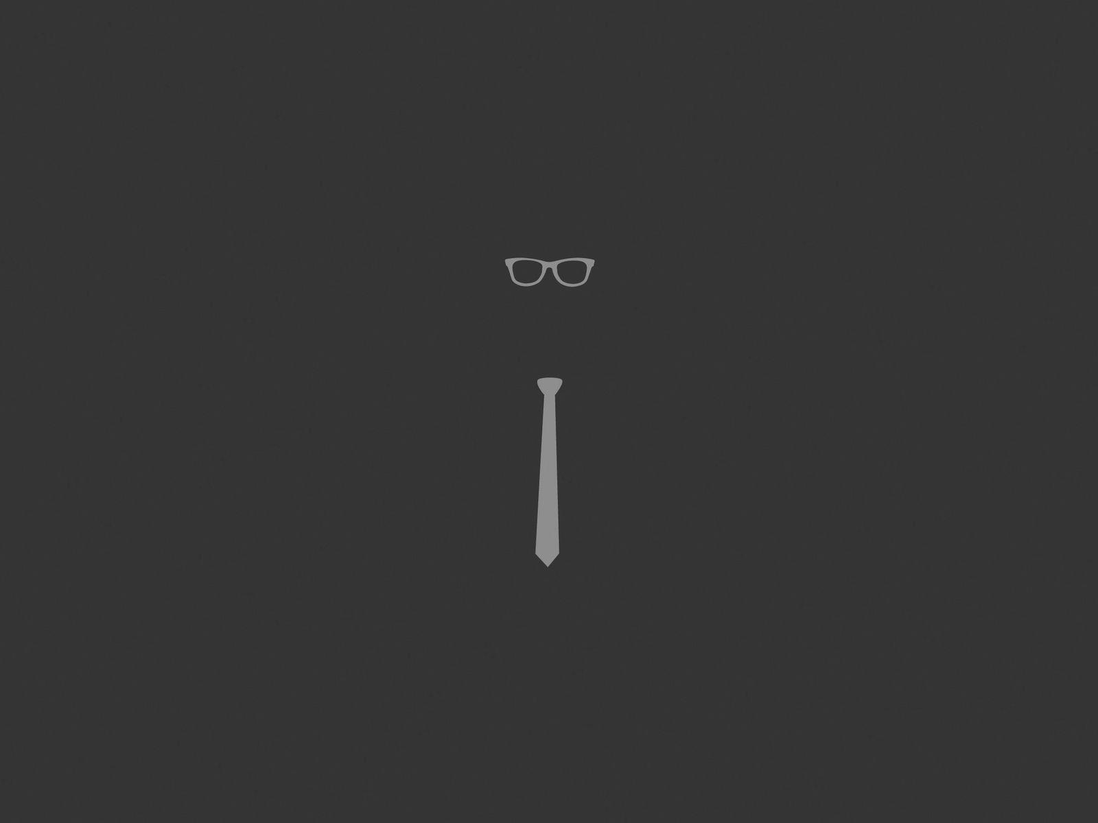 1600x1200 Wallpaper tie, glasses, graphic, minimalist
