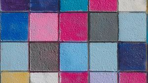 Preview wallpaper tile, colorful, squares, texture