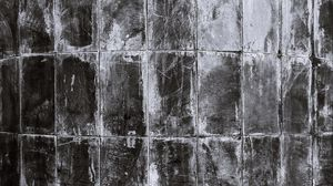 Preview wallpaper tile, wall, facade, dirty, old, black and white