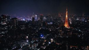 Preview wallpaper tokyo, japan, city, night, lights