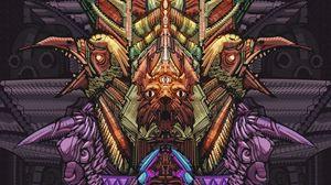 Preview wallpaper totem, magic, animals, masks, art