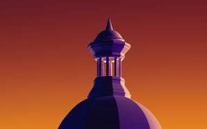 Preview wallpaper tower, architecture, illustration, vector