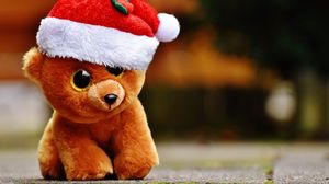 Preview wallpaper toy, teddy bear, christmas