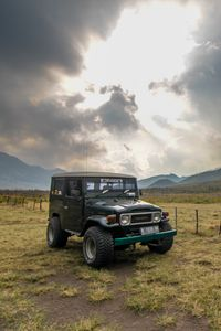Preview wallpaper toyota, car, suv, mountains, nature, landscape