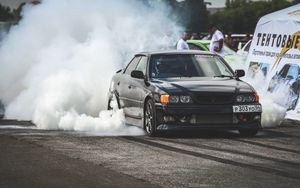 Preview wallpaper toyota, chaser, drift, side view