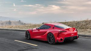 Preview wallpaper toyota, ft-1, red, machine, side view