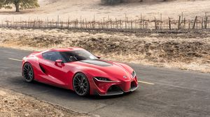Preview wallpaper toyota, ft-1, red, side view