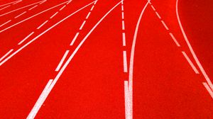 Preview wallpaper track, covering, stripes, marking, red