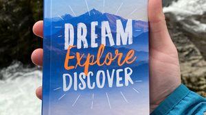 Preview wallpaper travel, dream, motivation, inscription, text, hand