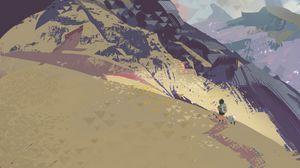Preview wallpaper travel, path, mountains, art