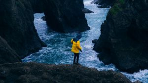 Preview wallpaper travel, rock, forest, sea
