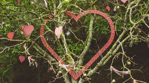 Preview wallpaper tree, branches, hearts, love