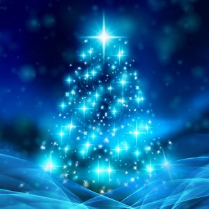 Preview wallpaper tree, christmas, new year, glitter, sparks