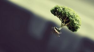 Preview wallpaper tree, flying, form, plant, fantasy