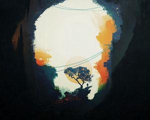 Preview wallpaper tree, light, dark