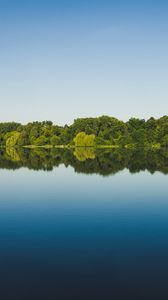 Preview wallpaper trees, reflection, lake, water, landscape