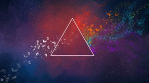 Preview wallpaper triangle, abstract, spots, butterfly, patterns