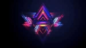 Preview wallpaper triangle, bright, colorful, background