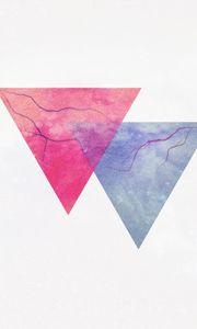 Preview wallpaper triangle, minimalism, lightning, veins
