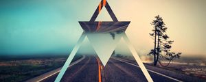Preview wallpaper triangle, shape, background, bright