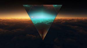 Preview wallpaper triangle, shape, dark, figure