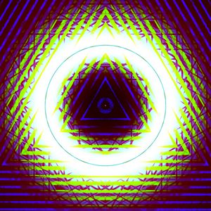 Preview wallpaper triangles, shapes, glow, abstraction