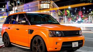 Preview wallpaper tuning, orange, land rover