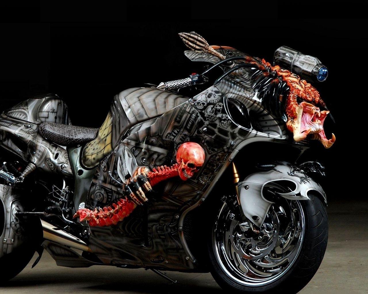 1280x1024 Wallpaper tuning, sport bike, airbrush, design