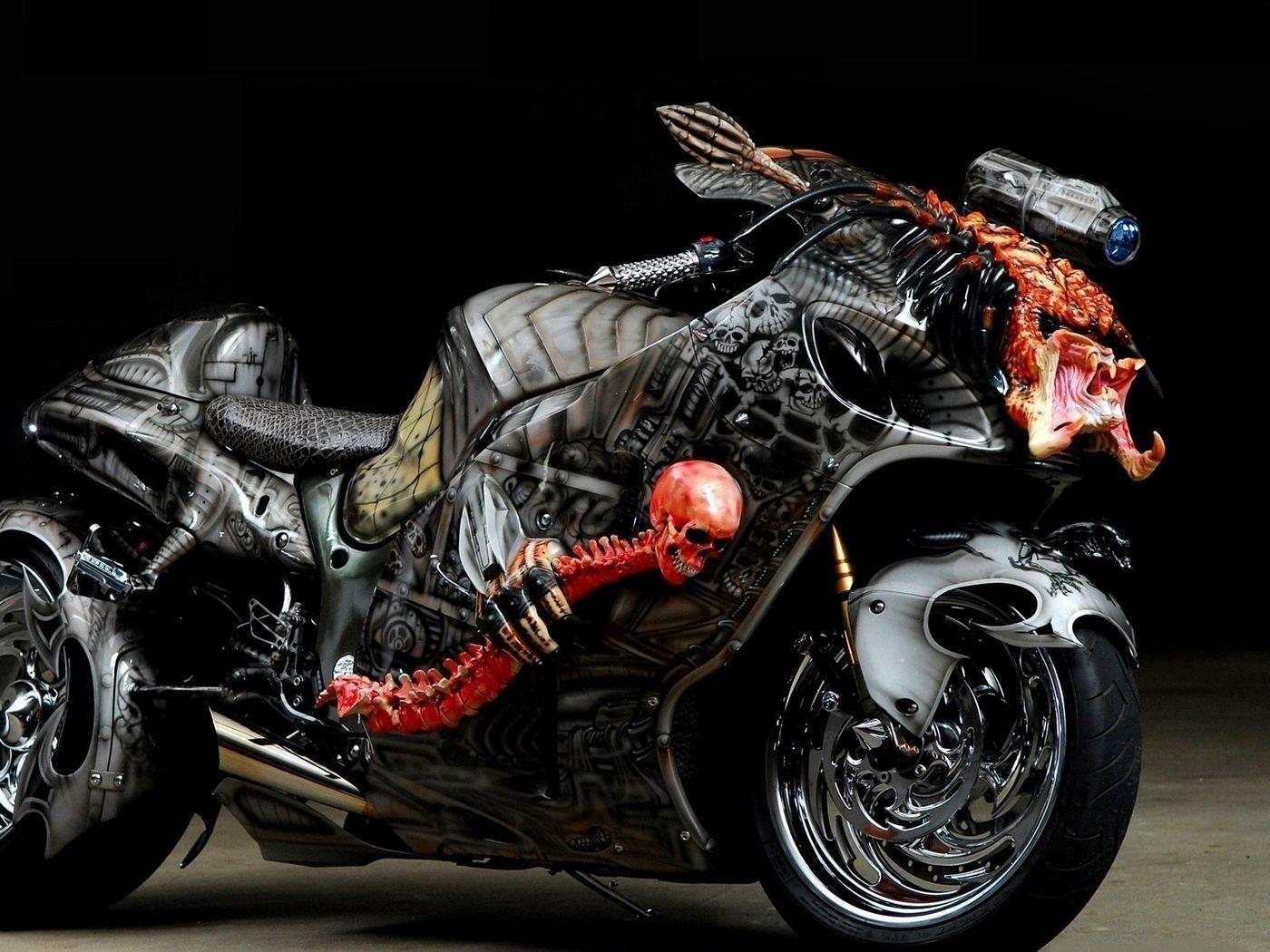 1400x1050 Wallpaper tuning, sport bike, airbrush, design