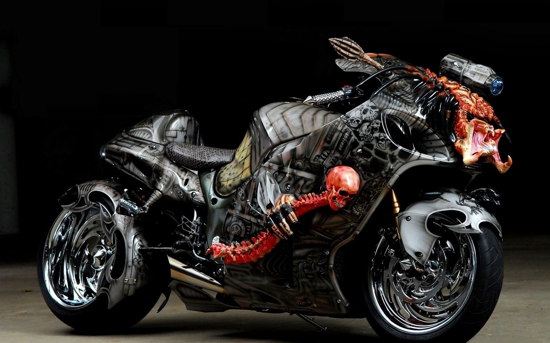 1440x900 Wallpaper tuning, sport bike, airbrush, design