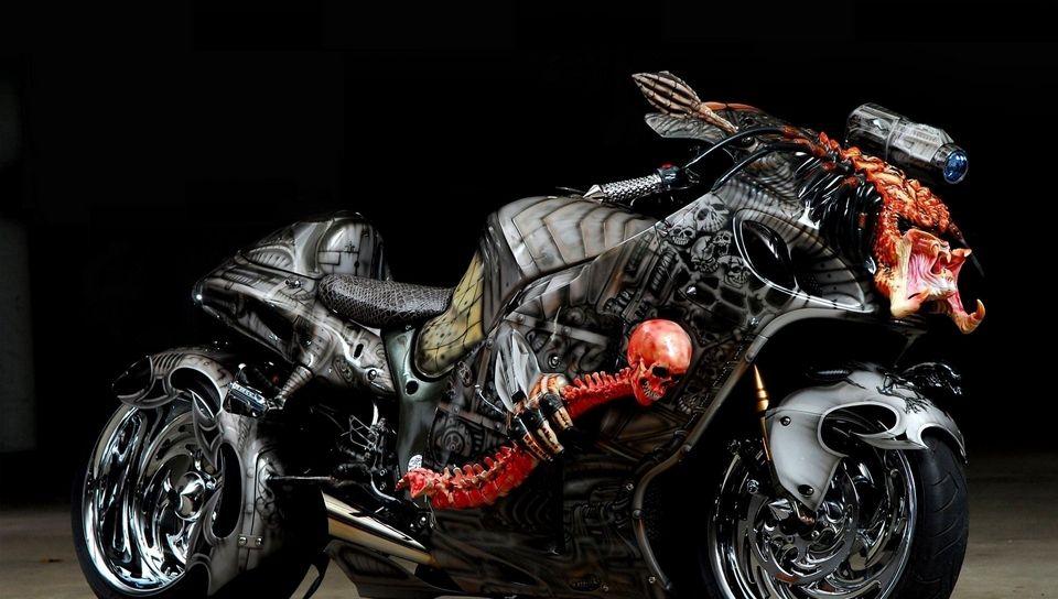 960x544 Wallpaper tuning, sport bike, airbrush, design