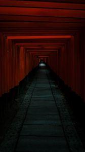 Preview wallpaper tunnel, passage, dark, red