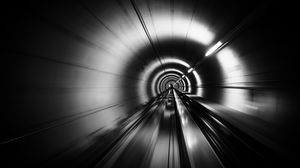 Preview wallpaper tunnel, speed, stripes, black and white, black