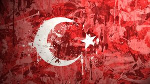 Preview wallpaper turkey, flag, background, texture, paint, stains