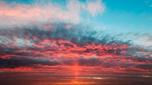 Preview wallpaper twilight, horizon, clouds, sky