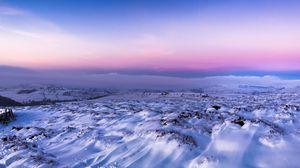 Preview wallpaper twilight, winter, snow, sky