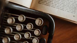 Preview wallpaper typewriter, book, vintage, aesthetics