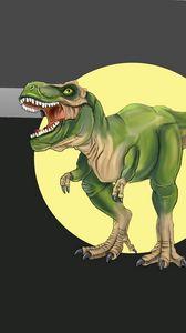 Preview wallpaper tyrannosaurus, dinosaur, predator, art