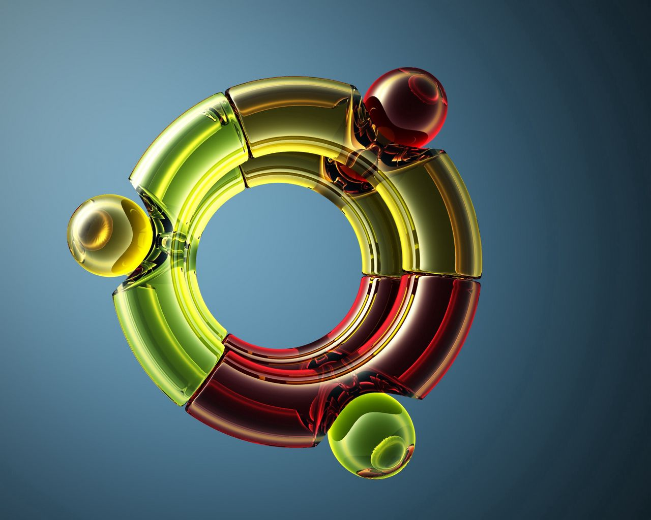 1280x1024 Wallpaper ubuntu, system, multi-colored, space