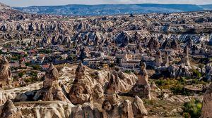 Preview wallpaper uchisar, cappadocia, turkey, mountain