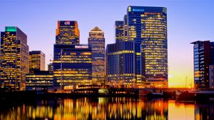 Preview wallpaper uk, england, london, night, buildings, river, reflection, city lights