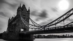 Preview wallpaper uk, tower bridge, london, black white
