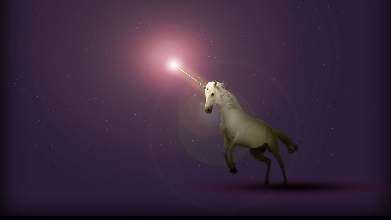 Wallpaper unicorn, art, starry sky, fantasy
